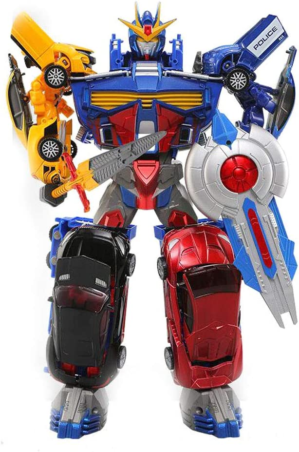 Transformar Robot De Coches De Juguete Figura De Acción, Chico Aleación Deformación Juguete, Auto Modelo Robot Humano, Automóvil Deformación Del Robot, Héroe De Rescate Robot, Robot Combinado Combinac: Amazon.es: Juguetes y juegos