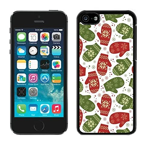 Iphone 5C Case,5C cases,Gloves Christmas Pattern Iphone 5C Case Black Cover (Cheap Speck Case For Iphone 5c)
