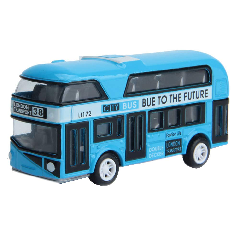 Rose YGQersh Enfants Enfants Jouet Simulation Alliage Mod/èle De Voiture Mini Pull Back Double Decker Bus