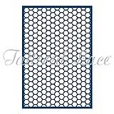 Tattered Lace Essentials Honeycomb Lattice Panel Background Cutting Die ETL69