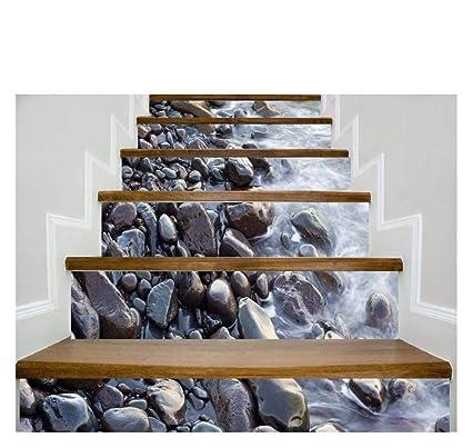 Autocollant Mural 3D Simulation Escaliers Autocollants ...
