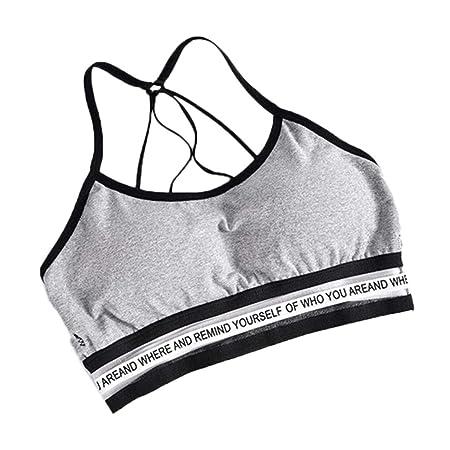 SimpleLife - Sujetador Deportivo para Mujer Jersey de Yoga ...