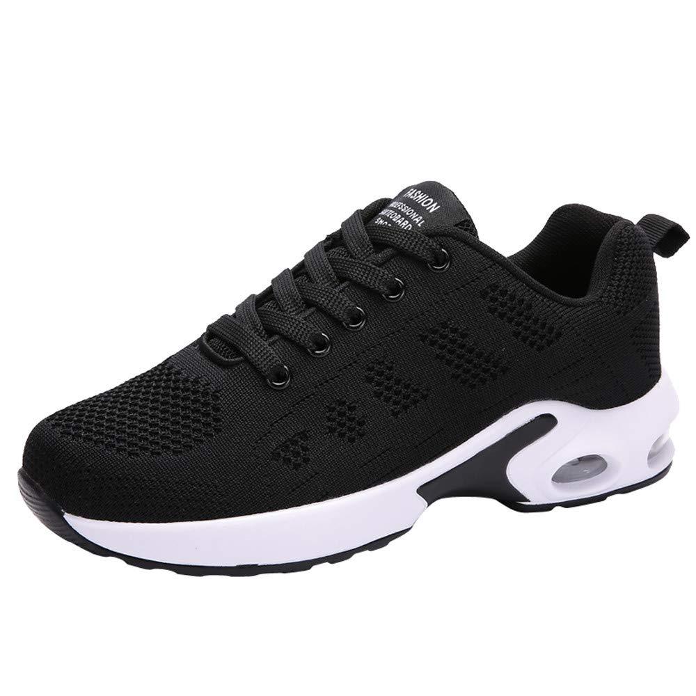 LILICAT☃ Sra. Flying Malla Tejida Calzado Deportivo Casual Zapatos de Suela Gruesa 35-40 Malla Exterior Calzado Deportivo Casual Zapatos de Suela Gruesa Zapatillas Inferiores
