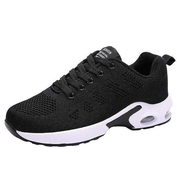 Zapatillas Running Mujer,YiYLunneo Malla Exterior Shoes Deportivas Informales Sneakers con Amortiguación de Aire con Suela Gruesa Zapato de Deporte: ...