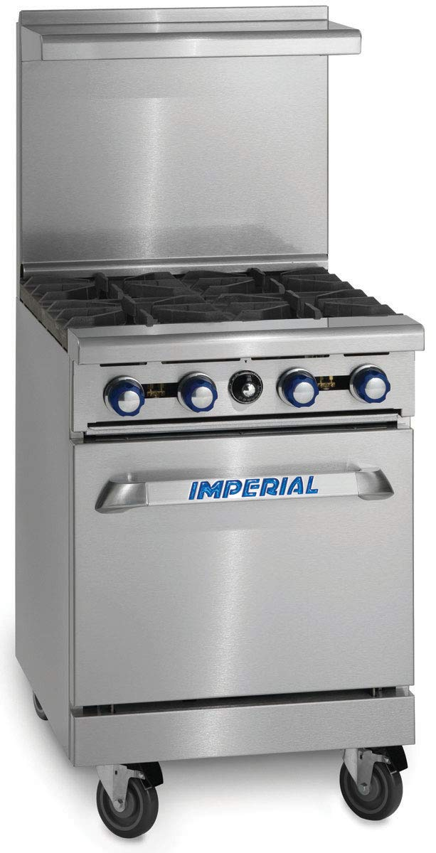 "24"" Restaurant Range with 4 Gas Burners & Standard Oven"