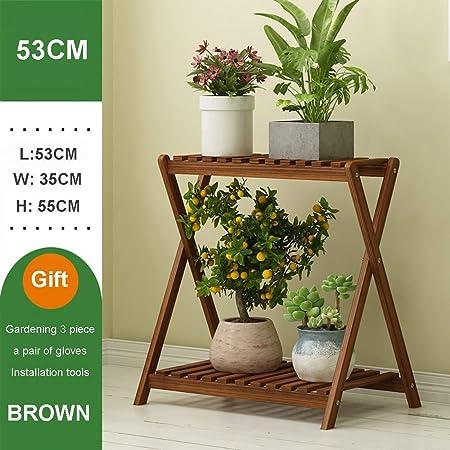 LOHOX Estantería para Macetas Flores de Bambú Estantería Decorativa para Macetas Soporte para Plantas Exterior Interior Jardín con 2 Niveles, para Esquina Exterior Balcón: Amazon.es: Hogar
