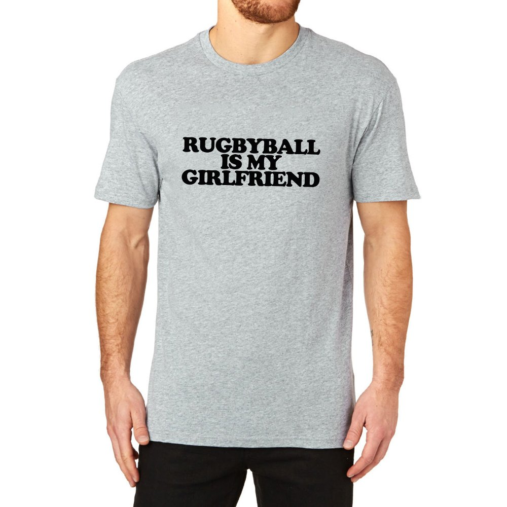 Loo Show Rugby Ball Is My Girlfriend T Shirts Funny Tee