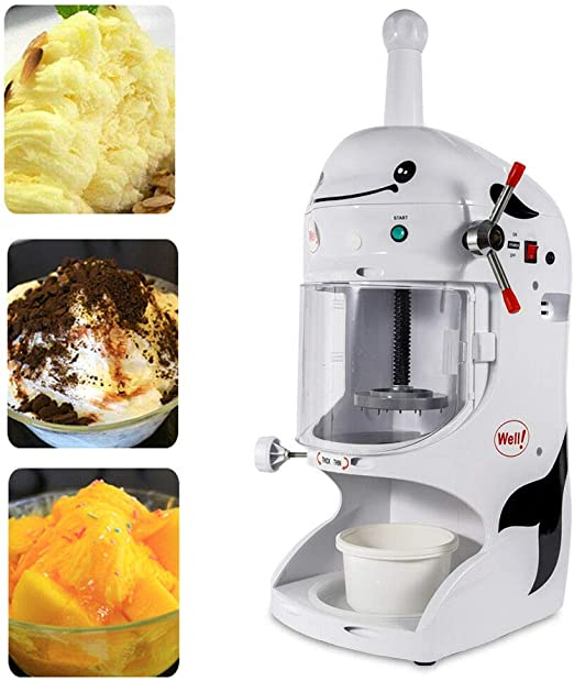 Ice Shaver Machine Snow Cone Maker Electric Crusher Shaving Summer Cool 110V NEW