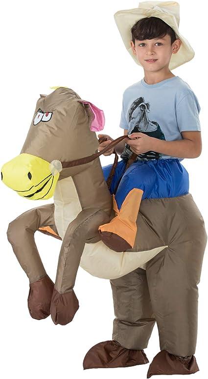 Amazon.com: TOLOCO - Disfraz hinchable de caballo de caballo ...