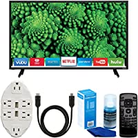 Vizio D32-D1 D-Series 32 Class Full Array LED Smart TV + Transformer Tap USB with 6-Outlet Wall Adapter + 6ft. High-Speed HDMI Cable + Universal Screen Cleaner Bundle