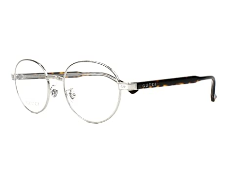 47fe82667f3 Eyeglasses Gucci GG 0189 O- 002 SILVER   HAVANA  Amazon.co.uk  Clothing
