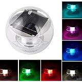 1PCS de la energía solar a prueba de agua de color del LED cambio de luz del globo flotante Piscina Parte Decor
