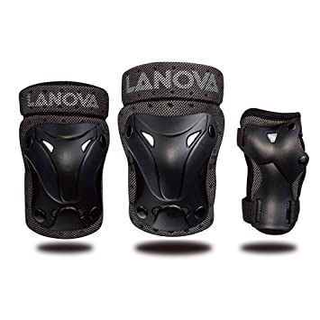 137656975347a LANOVAGEAR Kids Adjustable Protective Gear Set, Knee and Elbow Pads with  Wrist Guards for Multi-sports Outdoor Activities: Bike Cycling Bicycle  Riding ...