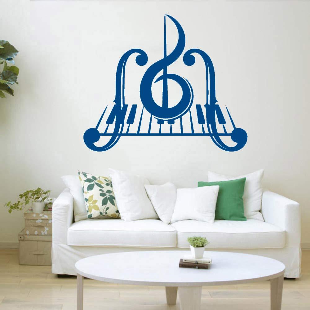 Piano Key Music Vinilo Tatuajes de pared Dormitorio Clave de sol ...