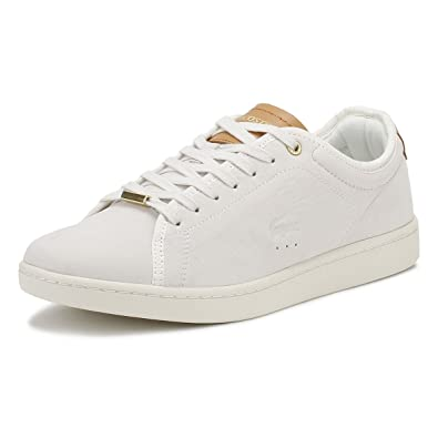 Lacoste Womens White Tan Canarby Evo Sneakers -UK 7 efab30272