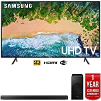 Samsung UN55NU7100 55 NU7100 Smart 4K UHD TV (2018) w/Samsung Soundbar Warranty Bundle