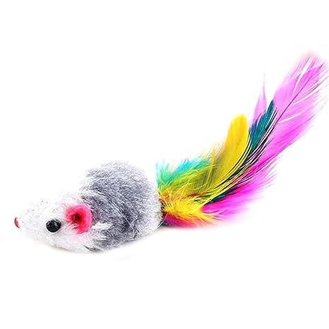 UU19EE 10 Piezas de ratón Falso Gato Mascotas Juguetes Interactivo Barato Mini Ratones de Juguete Divertido