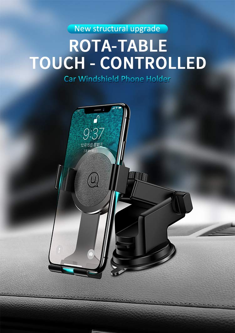 Washable Strong Sticky Gel Pad with One Touch Design Dashboard Car Phone Holder for I-P X//8Plus//6s//6Plus//7//7Plus// S5//S6// Galaxy S5// LG//Huawei and More Single Star Car Phone Mount