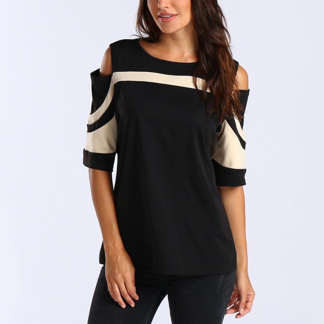 Blusas Sueltas para Mujer Camisas sin Mangas de Manga Corta Sudadera Informal Blusas 2018 ❤ Manadlian: Amazon.es: Ropa y accesorios