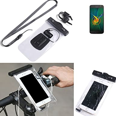 new concept d8ca7 e664f KS-Trade® for Motorola Moto G5s Plus Bicycle Bracket Mobile Phone Holder  Handlebar Bike Bicycle Mount Rainproof Waterproof Connector for Headsets ...