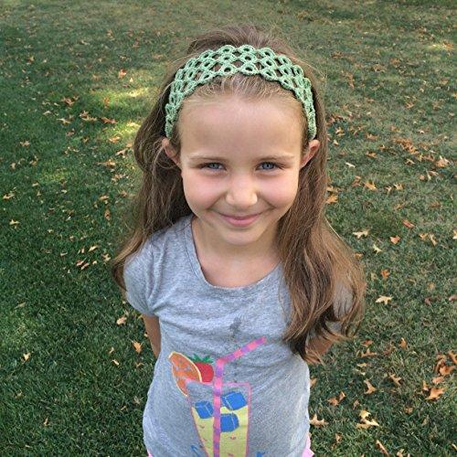 Wardani, Cotton Crochet headband bra strap adjustable elastic Earth-tone (Green)