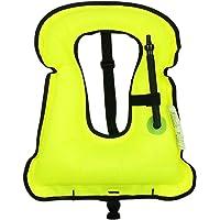 iRunzo Chaleco de snorkel - Inflable Compensador de flotabilidad Para niños adultos Buceo Nadando - Verde Chaleco de snorkel Inflable Compensador de flotabilidad Para niños adultos Buceo Nadando Verde Adulto