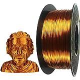 Silk Copper PLA 3D Printer Filament 1.75 mm 1KG (2.2lbs) Spool 3D Printing Material Silky Shiny PLA Filament (Silk Copper)