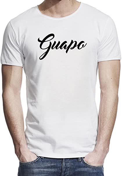 Guapa T-shirt Camiseta borde crudo hombres Medium: Amazon.es: Ropa y accesorios