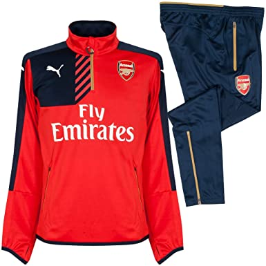 Arsenal 1/4 Zip Chándal – Rojo – Boys 2015 2016 multicolor Talla ...