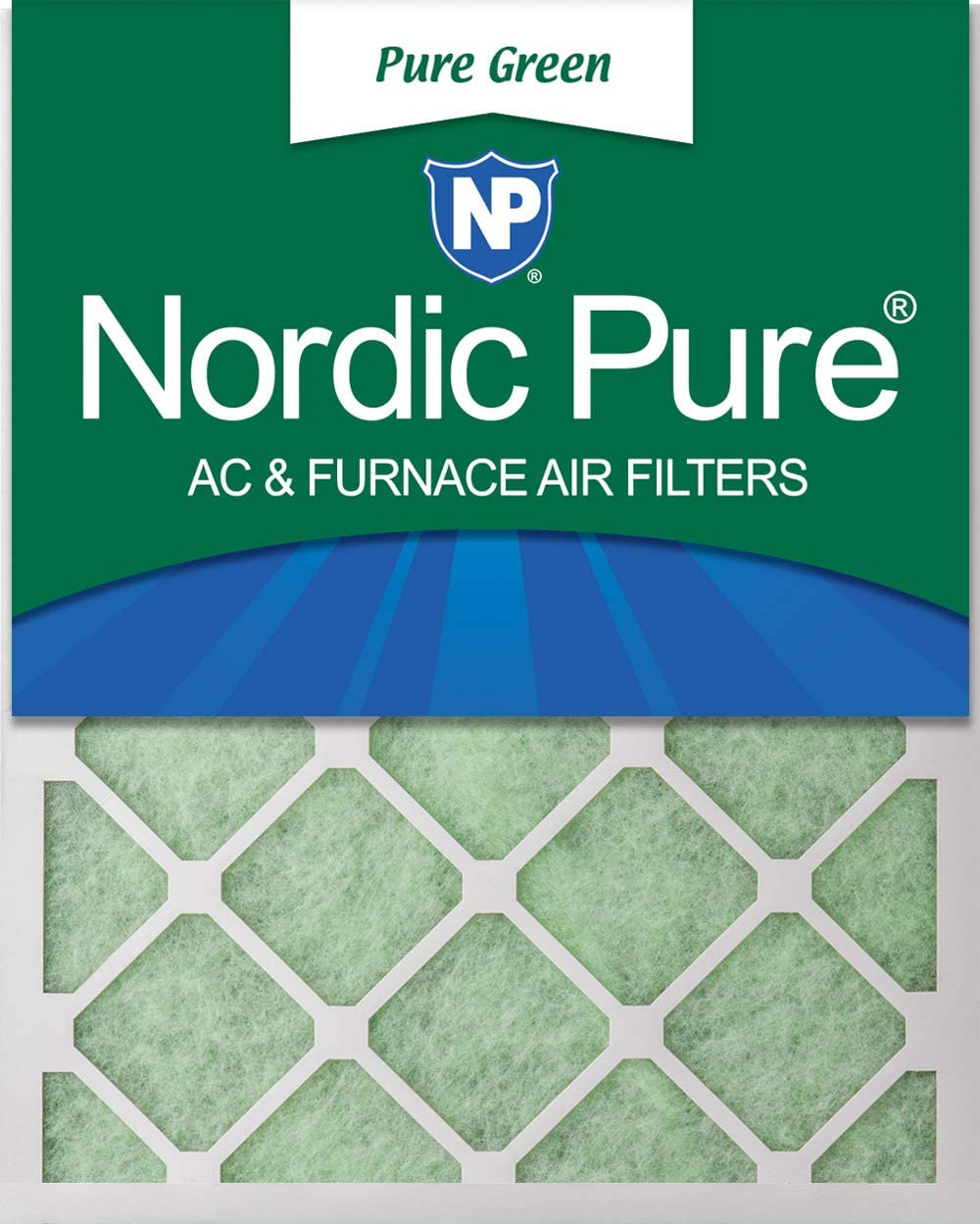 Nordic Pure 20x25x1 Pure Green Eco-Friendly AC Furnace Air Filters, 3 PACK, 3 piece