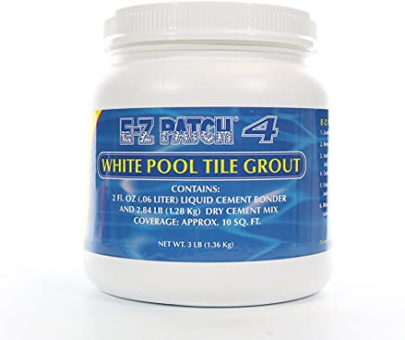 Ez Patch 4- White Pool Tile Grout Repair- 3 Lb