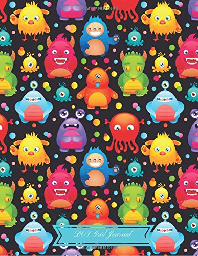 """Dot Grid Journal: Cute Funny Monsters Cover :Large 8.5""""x 11"""" : Dotted Notebook and Planner - Dotted Matrix Notebooks: Dot Matrix Journal : Composition ... & Writing (Dotted Grid Notebook) (Windy Funny)"""