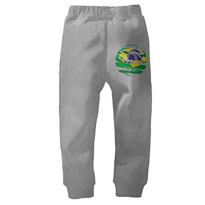 YE9WU Flag of Brazil 3D Children Toddlers Sport Jogger Long Pants Sweatpants for 2T-6T