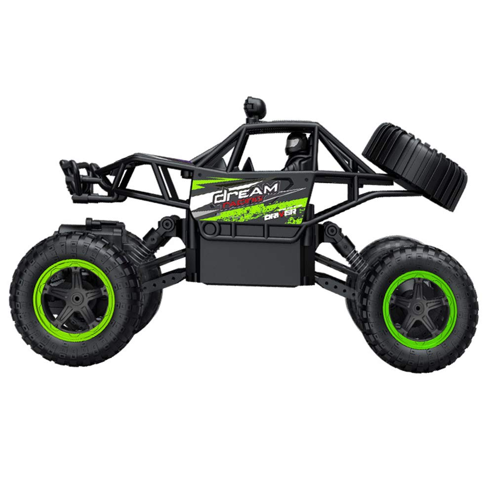 HUIGE RC 2.4HZ Electric Rock Crawler Radio Road high Speed Racing Remote Control Cars for kids and adults,Green