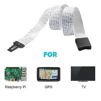 yoogeer TF a tarjeta SD Cable de extensión adaptador extensor convertidor para SD/RS-MMC/SDHC/MMC para coche GPS, DVD, DVR, teléfono, Led/Lcd pantalla