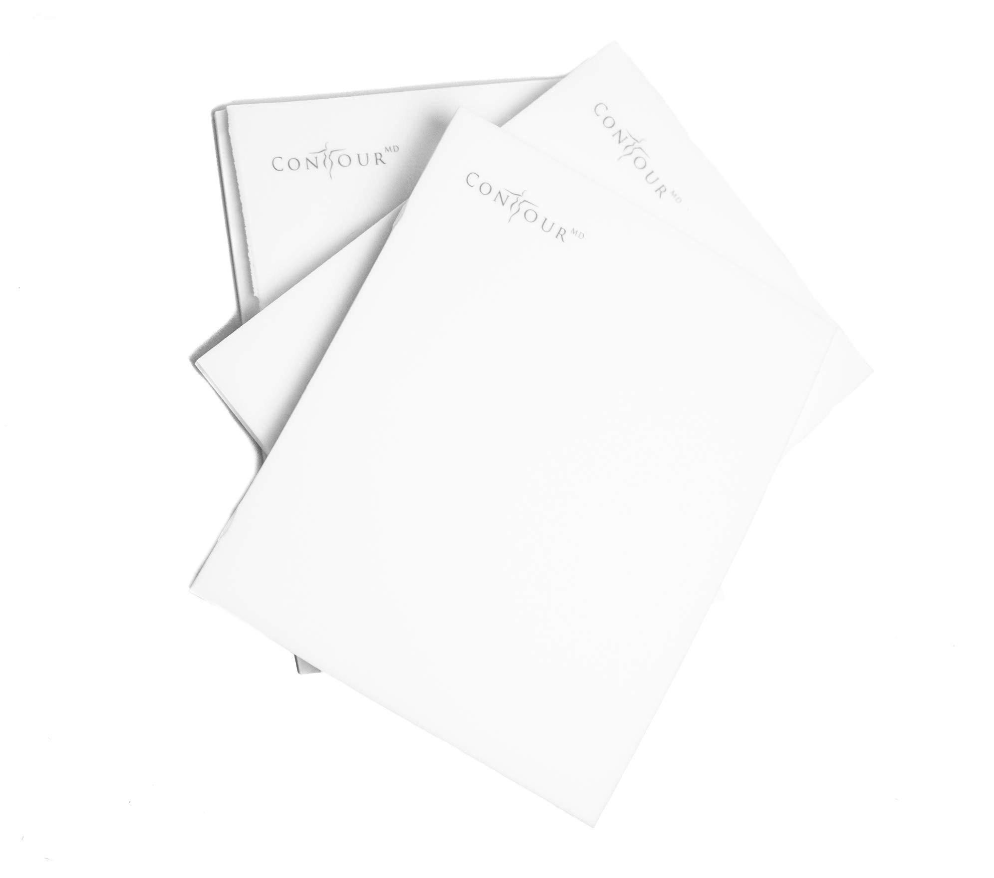 Post Surgery Foam Sheets, Surgical Compression Garments ContourMD, 8''x 11'' Sheet (Lipo-1), 3 Sheet White by Contour