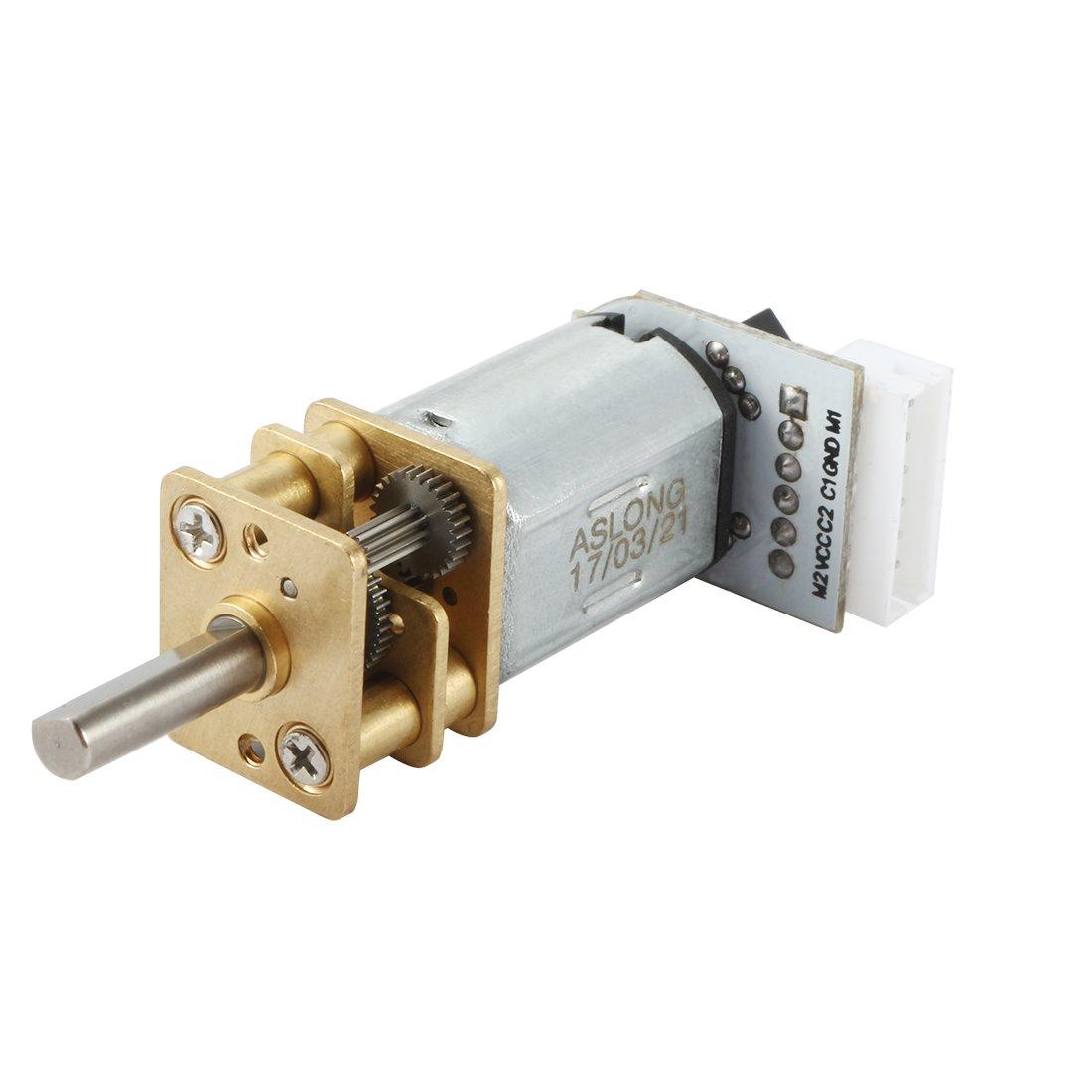 Micro Ré ducteur de vitesse é lectrique de moteur de ré duction de vitesse de DC 12V 600RPM avec des fils sourcing map a17022300ux0120