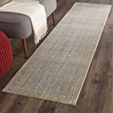 Safavieh Valencia Collection VAL104E Grey and Gold Vintage Distressed Silky Polyester Runner Rug (2'3'' x 10')