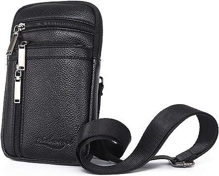 Bolsas de Cuero para Teléfono Celular, Cintura Bolsas Teléfono Hombre, 6.5