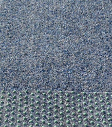 Kunstrasen Rasenteppich mit Noppen angenehm weich Farbe: blau - grau in verschiedenen Größen