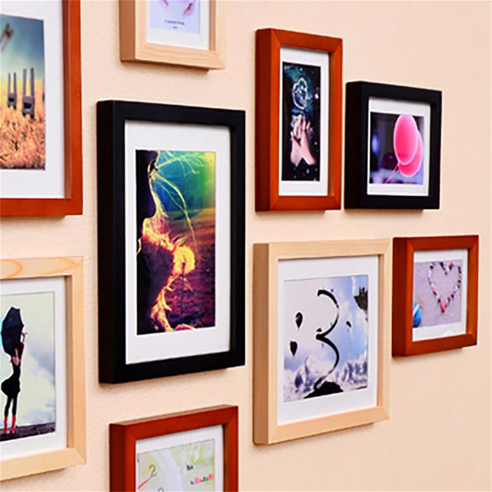 WillST 11 Multi Aperture Photo Frame Wooden Set Modern Simplicity Style Creative Photo Wall , d by Unknown (Image #4)