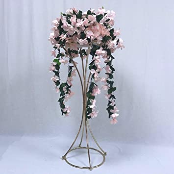 Amazon.com & Amazon.com: Everbon Set of 10 Gold/Sliver Metal Flower Vase 80cm ...
