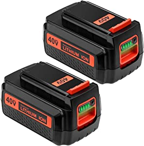 2Pack LBX2040 Lithium Replacement Battery Compatible for Black and Decker 40V Max 2.5Ah LBXR36 LBX2036 LBX36 LBXR2040 LST540 LCS1240 LBX1540 LST136W Cordless Power Tools