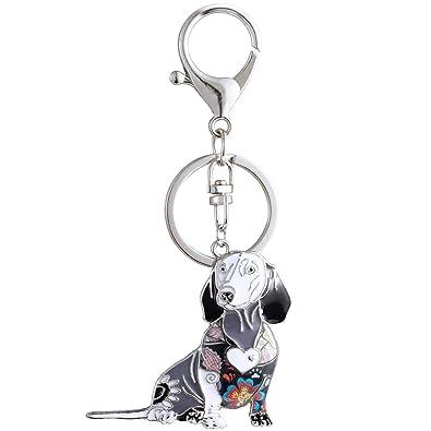 Amazon.com: Luckeyui - Llavero con diseño de perro salchicha ...