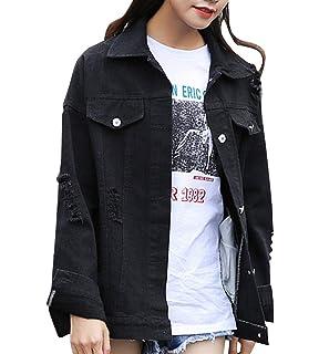 Damen Jacken Festliche Retro Trendigen Jeansjacke Perfect Frühling Herbst  Outerwear Normallacks Langarm Zerrissen Mit Taschen Button ce5c6be505