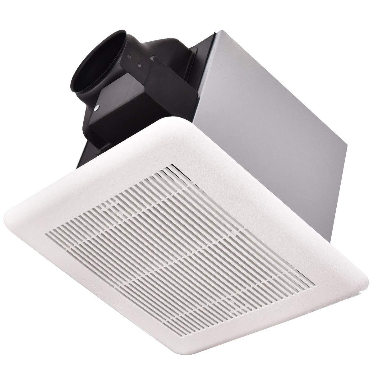 Imtinanz Modern Style Bathroom 50 CFM Ceiling Wall Mounted Exhaust Fan