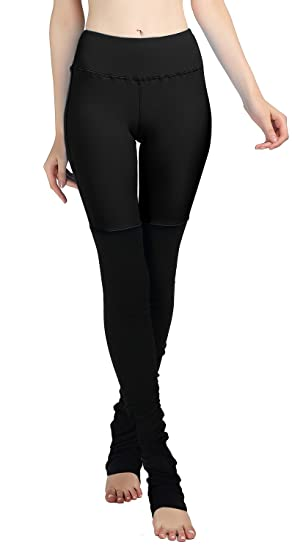 63d18942a7a77 Amazon.com: Women's Solid Color Splice Stretch Workout Leggings Wrap Foot  Yoga Tights 03M: Clothing