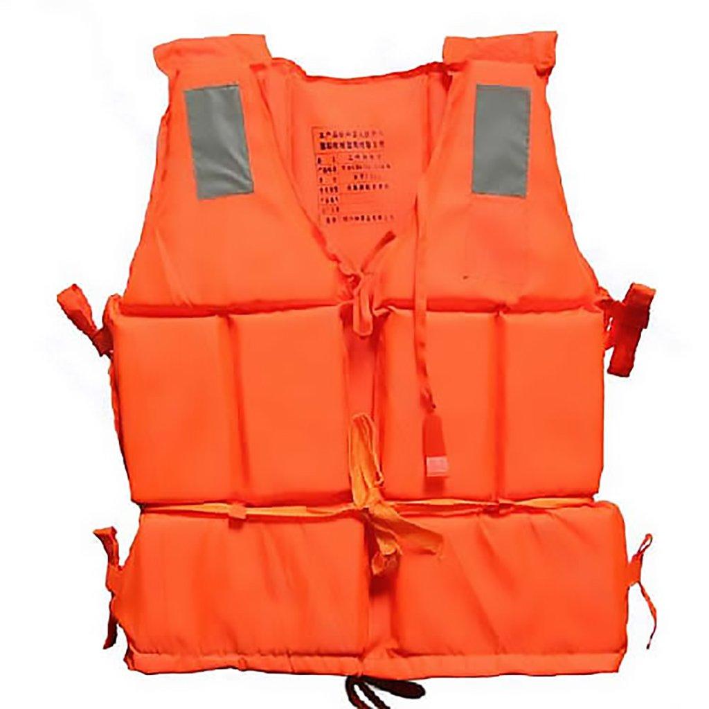 Yuuups ニューオレンジ 大人用 フォーム 浮遊 ドリフティング スイミング ライフ ジャケット ベスト ホイッスル付き   B07FBD8QVR