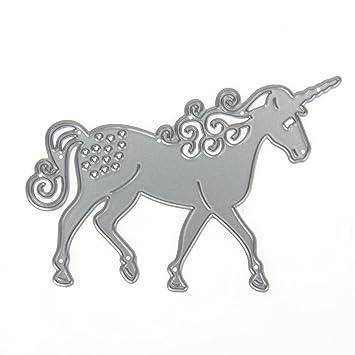 Amazingdeal365 Einhorn Metall Form Schablonen Schneiden DIY Dekor ...