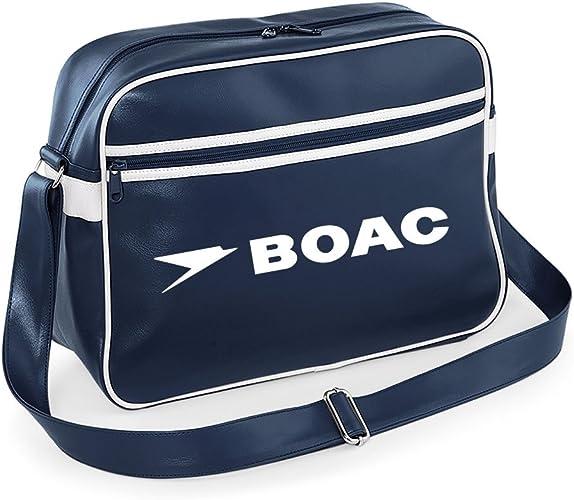 Luxury Retro BOAC Flight Shoulder Bag Luggage Pan Am (Navy Blue) Retro Flight Bag